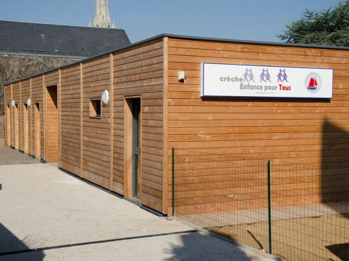 Construction de crèche rapide modulaire bois de 450 m2 livrée en 4 mois à Harfleur
