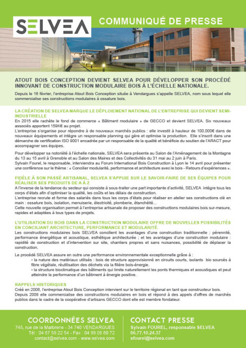 Construction modulaire bois industrielle