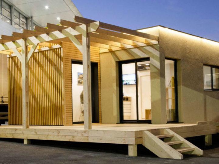 Construction showroom modulaire bois déménagé plus de 6 fois