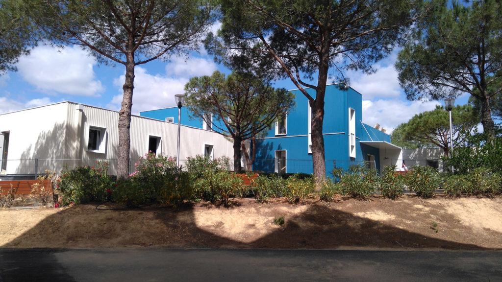 construction hôpital provisoire