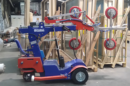 robot à vitre construction modulaire bois