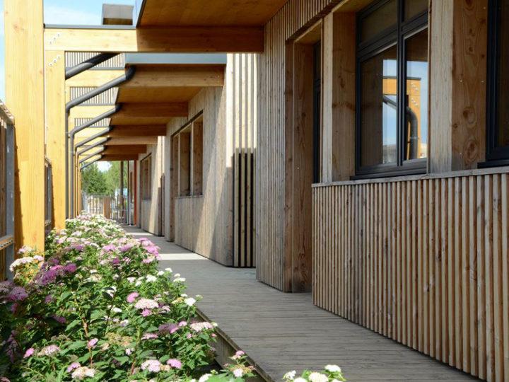 Salle de classe modulaire en bois