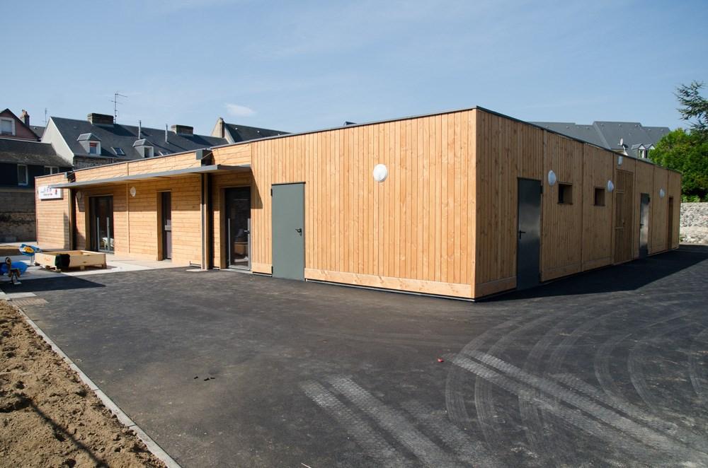 Construction de crèche rapide modulaire bois