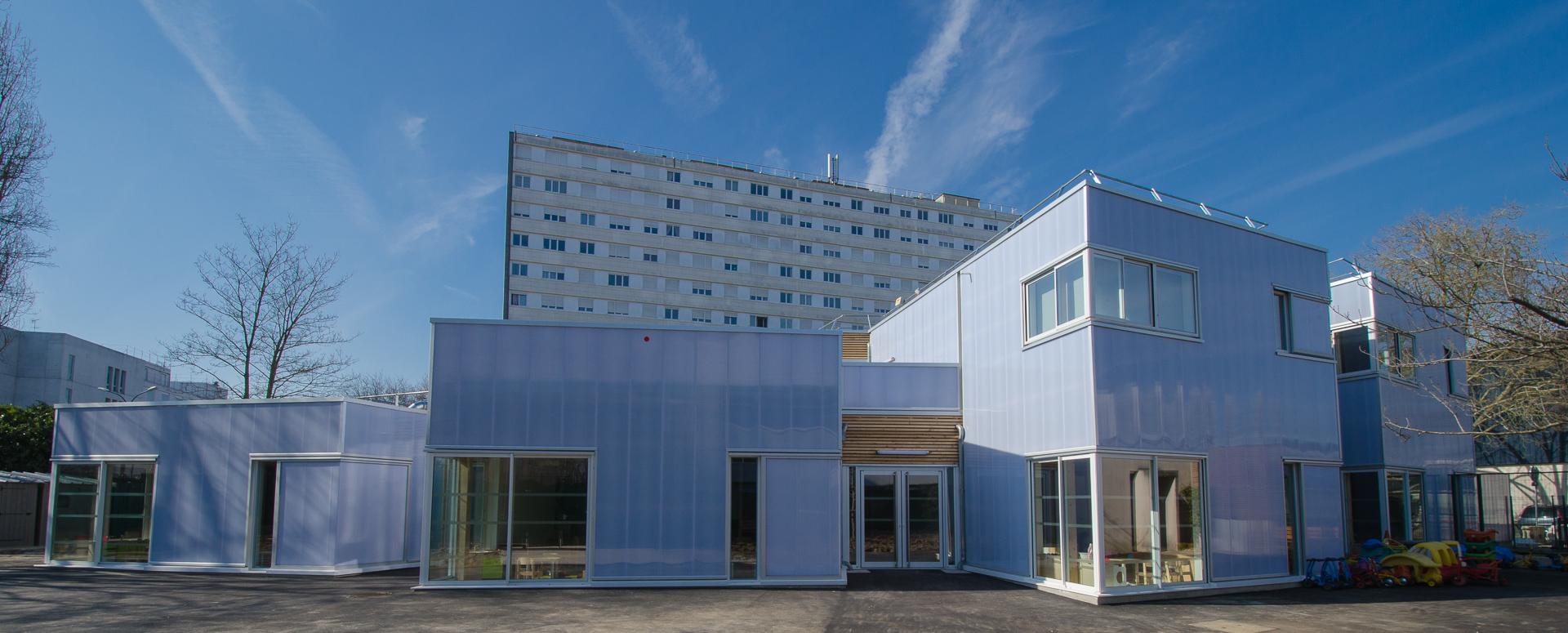 Crèche modulaire bois - Bérangère Giaux architecte