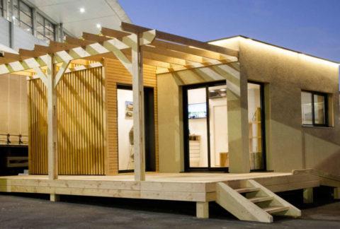 construction showroom modulaire bois