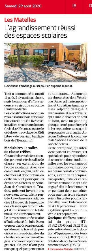 Article modulaire bois SELVEA Midi LIbre